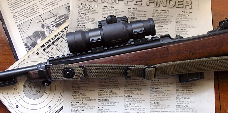 UltiMAK M1 Carbine Optic Mount with Aimpoint 9000SC Reflex sight