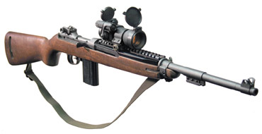 UltiMAK enhanced M1 30 Carbine with Aimpoint Comp sight