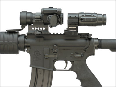 Aimpoint 3x Magnifier with CompML on the ARMS#22M68 QD Ring