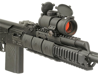 Aimpoint military red dot sight on AK