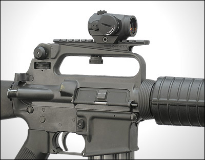 A.R.M.S. #2, AR-15, M-16 carry handle see through optic mount