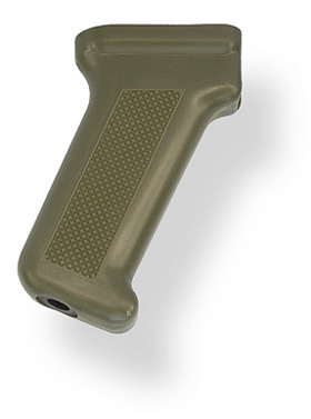AK Pistol Grip, Standard Shape, Improved, U.S. Made, OD Green