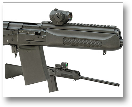 M11-S Saiga mount with Aimpoint Micro T-1
