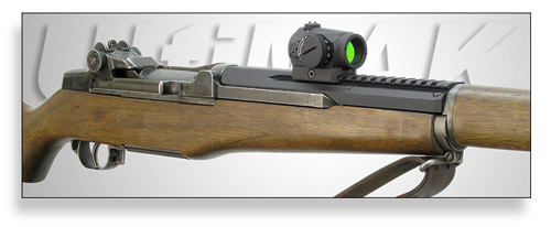 M12, M1 Garand Scout Scope Mount with Aimpoint Micro Red Dot Sight