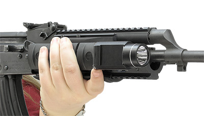 Streamlight TLR-1 mounts directly to forend rail systems