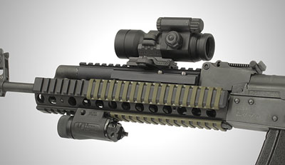 Low Profile O.D. Rail Covers on ACR2
